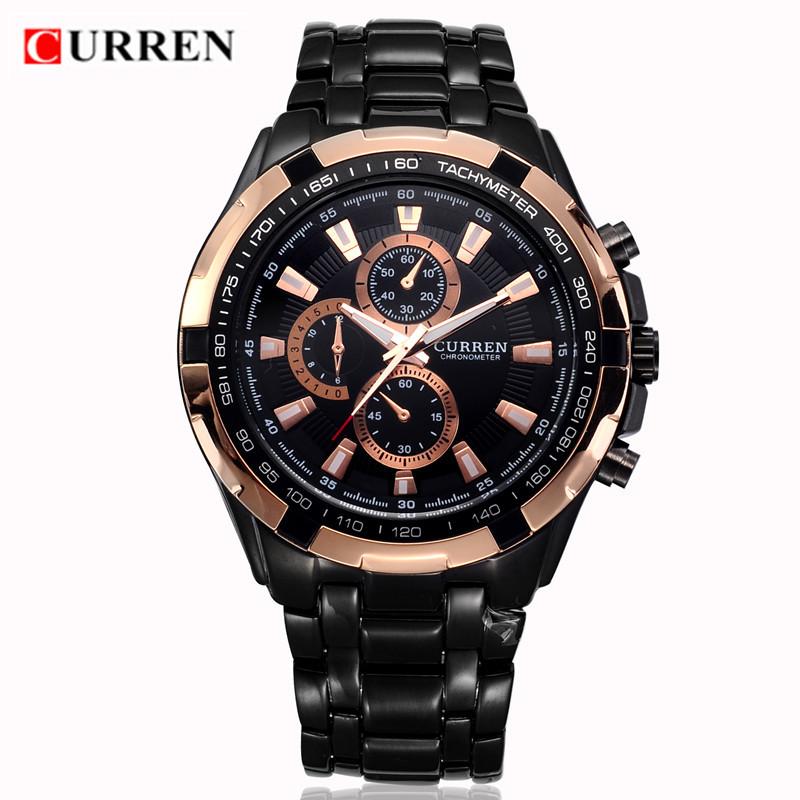 CURREN Luxury Brand Men Watches Stainless Steel Analog Mens Quartz-Watch Fashion Male Wristwatch Sport Clock Relogio Masculino(China (Mainland))