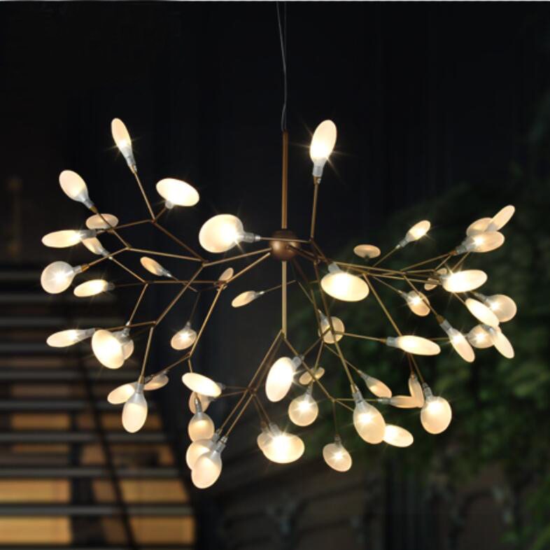 Branches droplight sitting room lamps and lanterns art modern fireflies droplight creative designer cherry blossom led lamps(China (Mainland))
