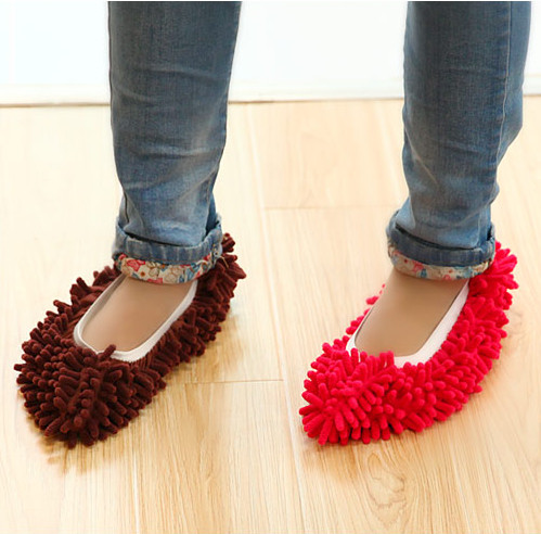 Creative Home1pcs 7 Colors Dust Mop Slipper House Cleaner Lazy Floor Dusting Cleaning Foot Shoe Cover Dust Mop Slipper(China (Mainland))