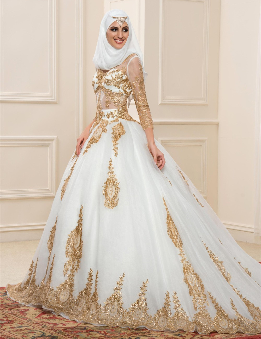 Popular muslim wedding dress buy cheap muslim wedding for Muslim wedding dress photo