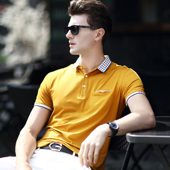 2016 summer men's fashion polo shirt short sleeve slim polos hot men polos cotton polo shirts free shipping