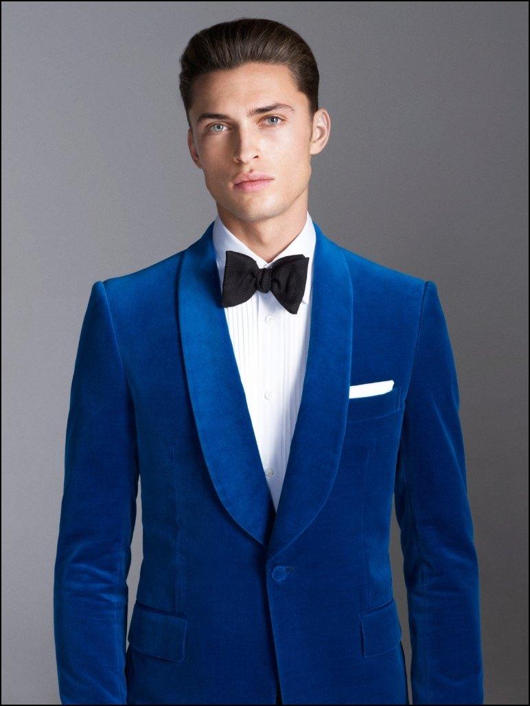 Images of Mens Royal Blue Suit - Klarosa