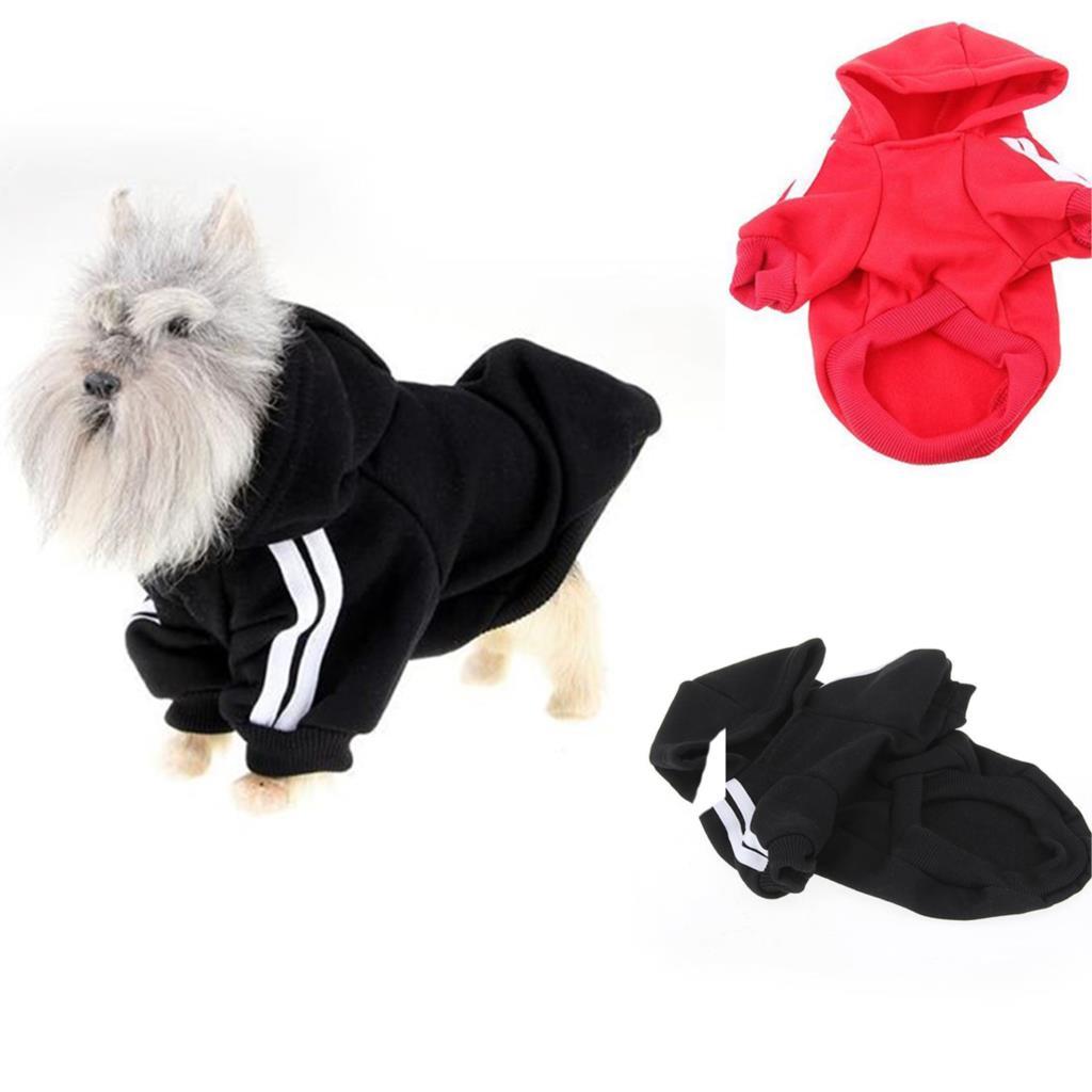 Quente Pet Dog filhote de cachorro com capuz camisola roupas de algodão de manga com capuz macio