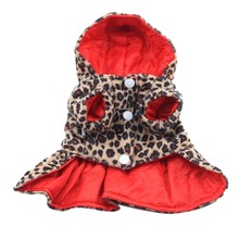 Buy Hot Sales Factory Price! Pets Dogs Leopard Pattern Tutu Coat Dress Puppy Hoodie Sides Wear Clothes for $2.11 in AliExpress store