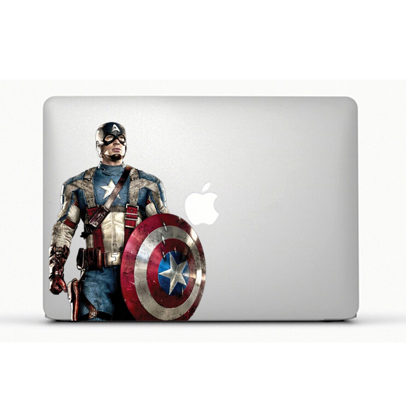 Laptop Sticker Captain America Decal laptop Sticker for Apple Macbook Pro Air 13 Inch Simpsons laptop skin(China (Mainland))