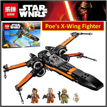 Lepin 05004 Compatible Legoe Minifigures Star Wars Poe's X Wing Fighter 75102 Building Blocks Model Toys For Children(China (Mainland))