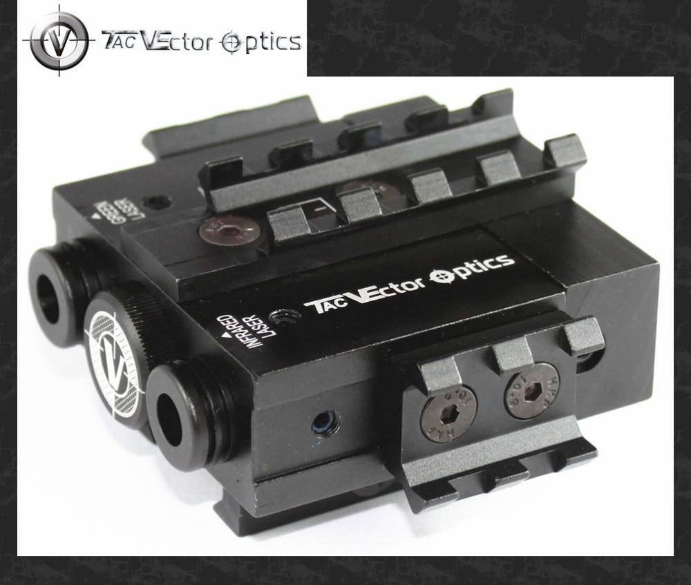 Vector Optics Viperwolf Tactical 5mW Green Laser Sight & IR Laser Sight Combo Designator POINTER ILLUMINATOR fit 20mm Rail(China (Mainland))