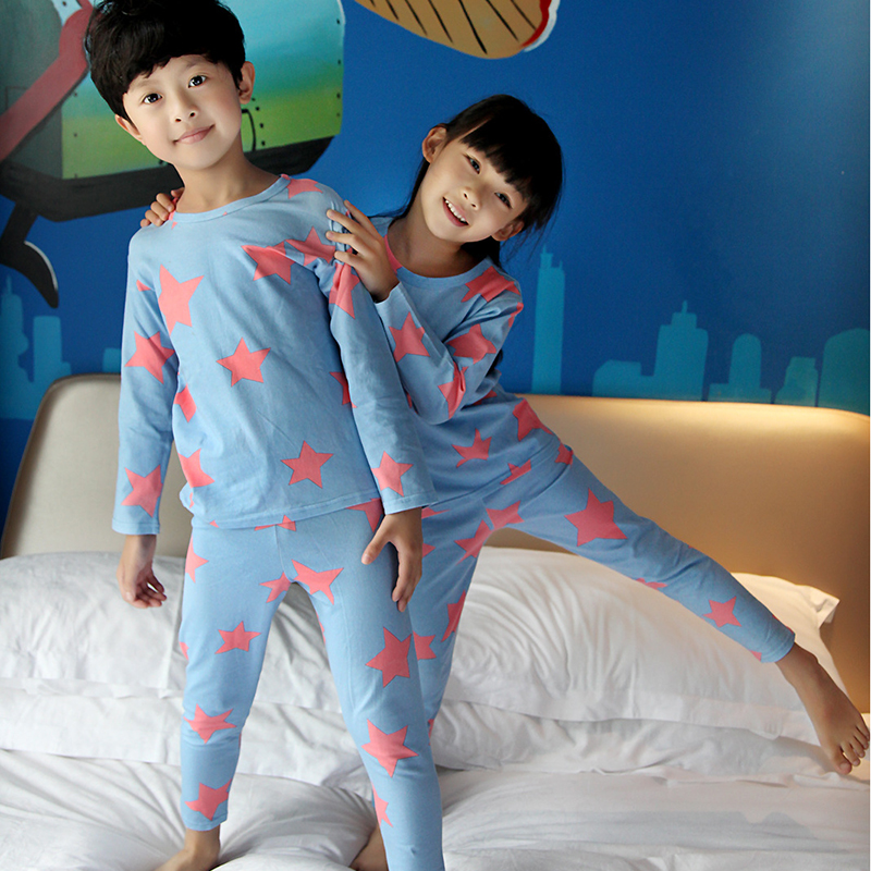 100%Cotton kids Pajamas Sets winter Full Sleeve Brother And Sister Clothing  / Suit For Children 75cm-135cm Factory Direct Sales<br><br>Aliexpress