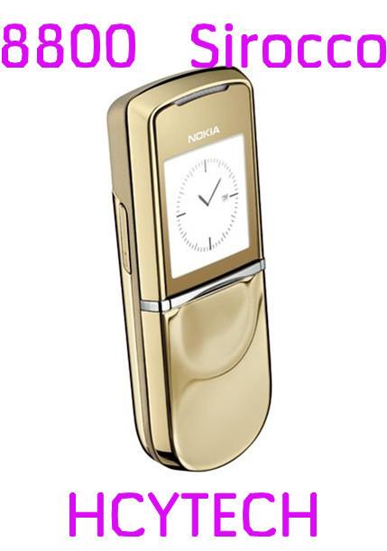 5pcs/Lot Refurbished Original Unlocked Nokia 8800 Sirocco gold/silver/black color bluetooth Mp3 mobile phone(China (Mainland))