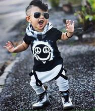 2016 summer baby boy clothes baby clothes set cotton short sleeved printing t-shirt +pants 2pcs suit newborn infant clothing set
