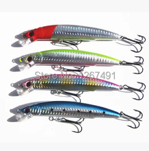 Free shipping 4pcs/lot high quality trulinoya fishing lures plastic hard baits Bass fake lures 115MM/18g