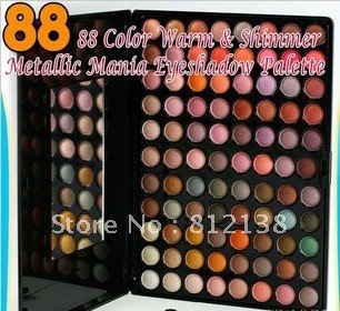 Free shipping ! Pro 88 color warm & shimmer metallic mania eyeshadow palette #5,  Coastal Scents