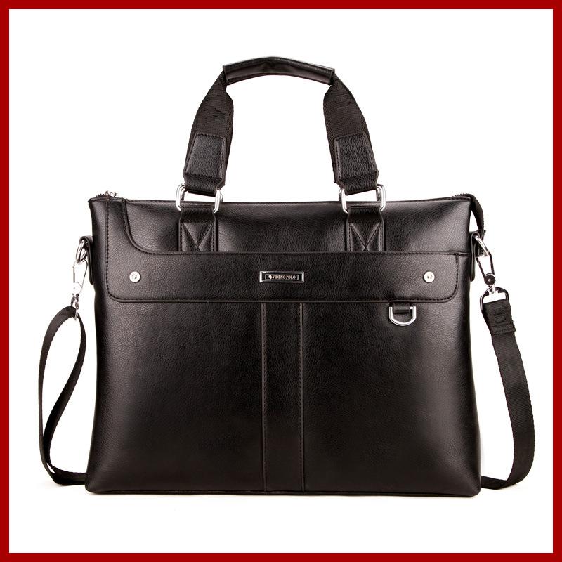 New 2016 luxury brand men's bags handbags business laptop shoulder bag casual high quality leather men handbag briefcase(China (Mainland))
