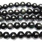 China post air mail Free shipping 5 strips 40pcs/strip 10mm round hematite beads wholesael fit DIY Shamballa Bracelet(China (Mainland))