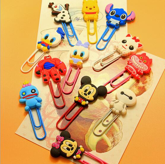 Гаджет  Cute Cartoon Characters Paper Clip Bookmark Promotional Gift Stationery School Office Supply Escolar Papelaria None Офисные и Школьные принадлежности