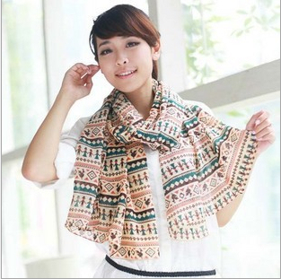 Бесплатная доставка 2016 новое поступление женщин мода шифон коробки хаки шарф женский состояние обернуть