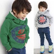 Baby Boys&Girls Coat Tops Hooded Jacket Jumpers Sweater Outwear 2-7Y(China (Mainland))