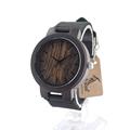 BOBO BIRD C24 Vogue Mens Light Wooden Watches Antique Quartz Watch With Black Leather Strap Relogio