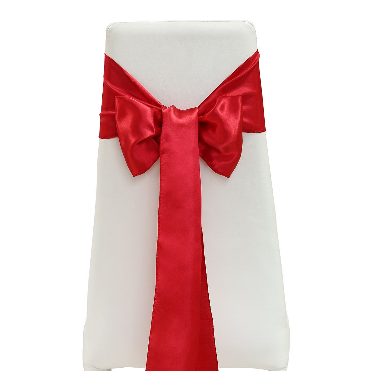25pcs 15x275cm Elegant Soft Satin Bowknot Chair Cover Sashes Bows Ribbons for Wedding Banquet Party Decoration