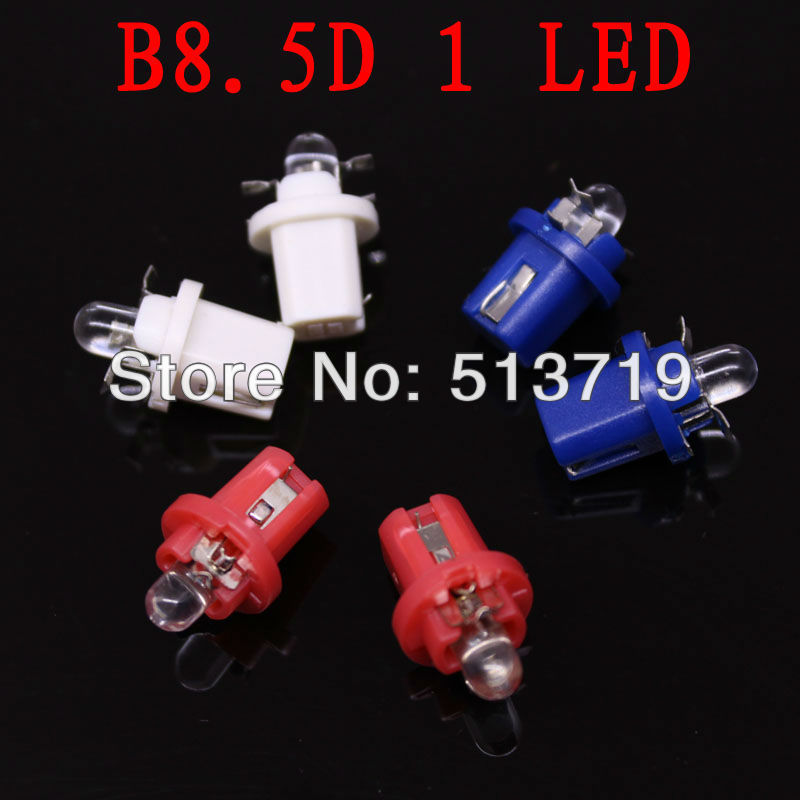 10XLED T5 B8.5D 2721 286 WHITE INTERIOR DOME 12V LIGHT BULB/LAMP/BULBS 5050 SMD Twist Lock white red blue(China (Mainland))