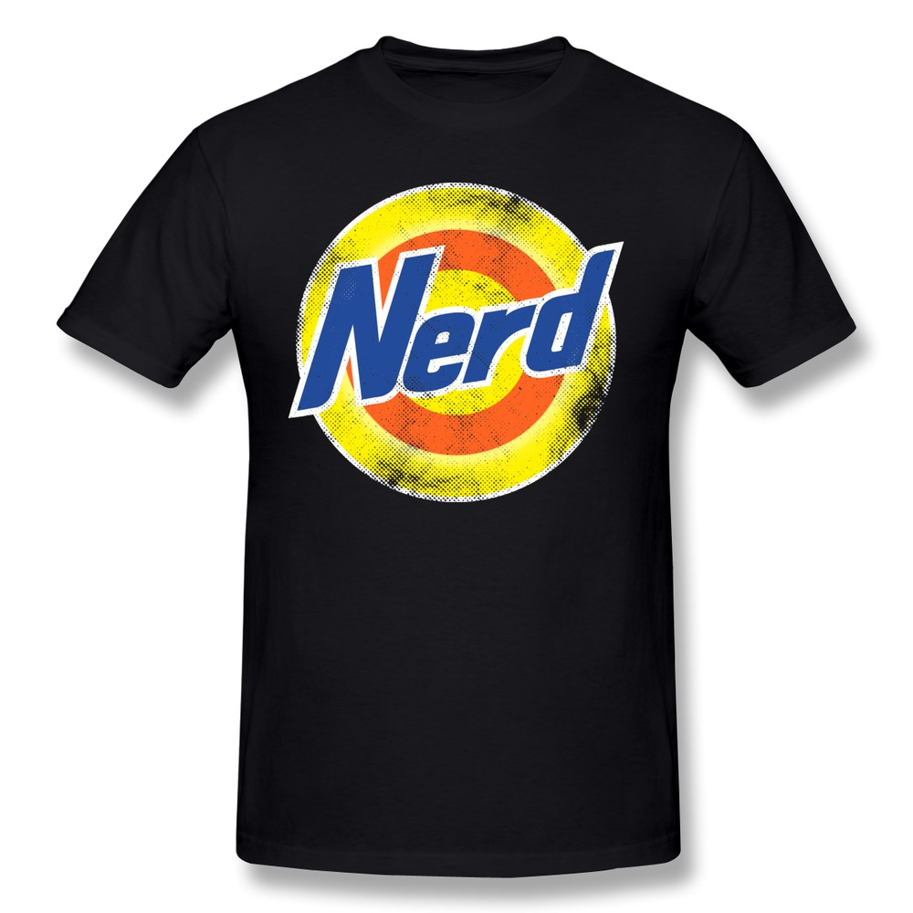 t shirt mens pre cotton nerd printed t shirts men discount
