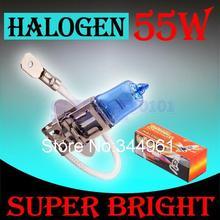 H3 55W 12V Super Bright White Fog Lights Halogen Bulb High Power Car Headlight Lamp Car Light Source parking 6000K auto
