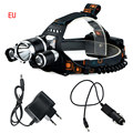 NEW 6000 Lumens LED Headlamp CREE XML T6 2R5 LED 4 Modes Rechargeable Headlight Head Lamp