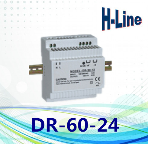 60W output 24VDC 2.5A single group din rail type power supply ce certificate ac to dc 24v free shipping model: s-60-24(China (Mainland))