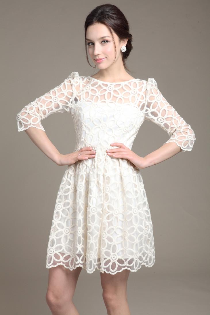 White Short Summer Dresses
