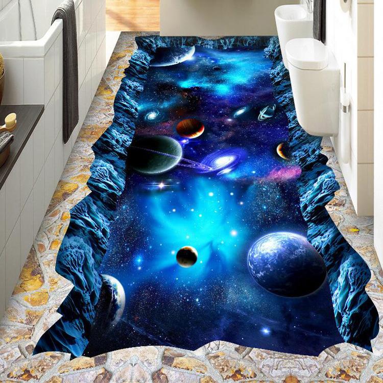 Buy custom large floor wallpaper 3d for Wallpaper pvc 3d