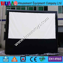 Airtight PVC rear projection inflatable movie screen by DHL to door(China (Mainland))