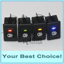 200pcs/Lot ASW-17D 35A/12V CAR HEADLIGHT HEAD FOG LIGHT Rocker SWITCH with LED (Red,Amber,Green,Blue,White)(China (Mainland))