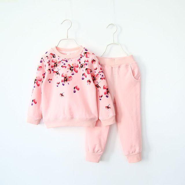 2016 детская принцесса бутик одежды комплект для детей девочку цветок хлопка принцесса ...