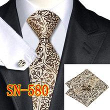2015 Fashion Novelty Tie Silk Jacquard Necktie Hanky Cufflinks Set Business Wedding Ties For Men Free shipping(China (Mainland))