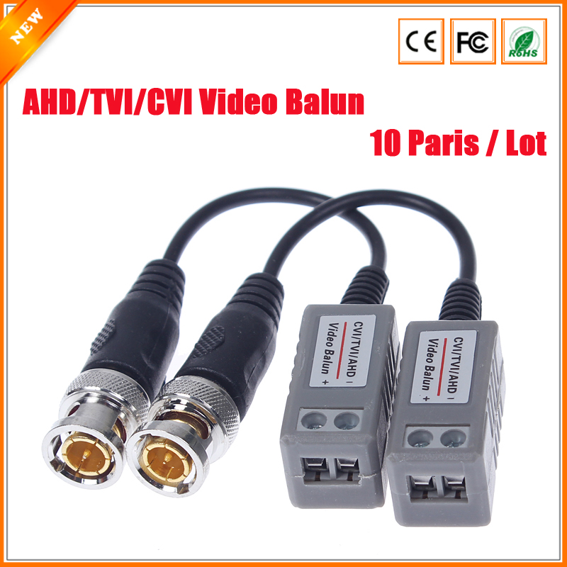 10Pairs CCTV Accessory CCTV Video Balun Transceiver Twisted 1Channel BNC Passive Transceivers For AHD TVI CVI 720P 1080P Camera(China (Mainland))