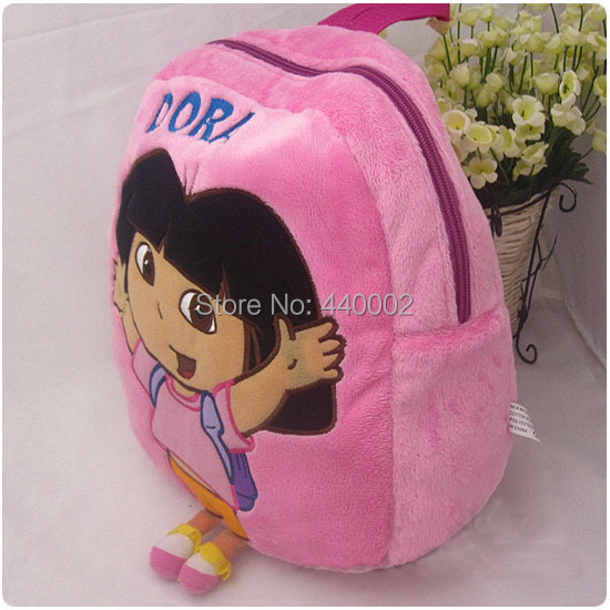 Wholesale Hot sale Dora the Explorer Backpack Baby Kids Cute School Bag Bags Christmas Gifts 30pcs/Lot EMS Free Shipping(China (Mainland))
