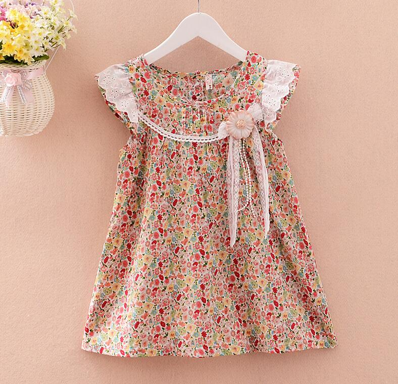 723925 Wholesale 2016 New Summer Baby Girls Dresses Floral Bow Girls Princess Dresses Sleeveless Children Clothes Supplier Lots<br><br>Aliexpress