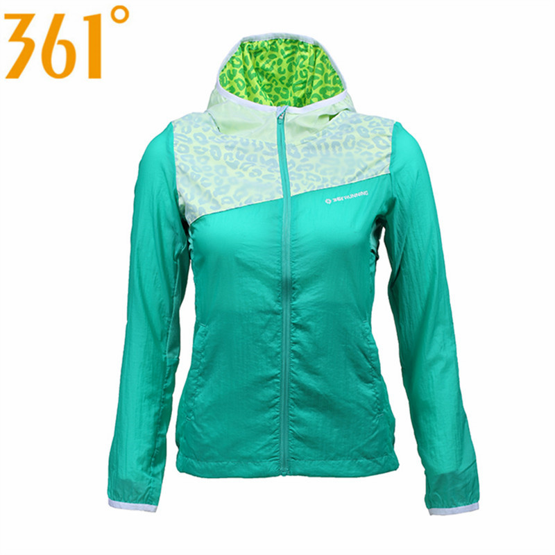 361 Womens Outdoor Sports UV-Resistant Running Jackets Quick Drying Windproof Hooded Jogging Athletic Clothing 561512301Q1W36<br><br>Aliexpress