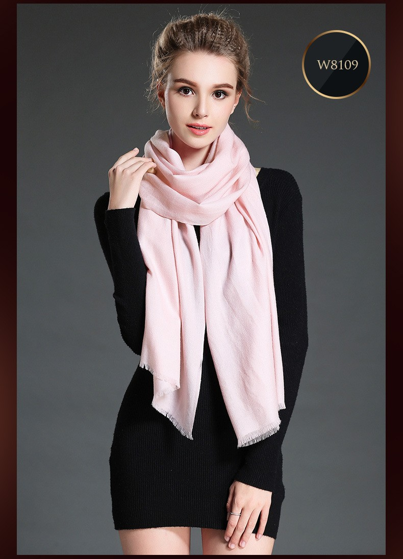 2017 new winter scarf women shawl 100% wool 125g tassel candy color soft comfortable warm fashion scarves rectangle GOOD QUALITY
