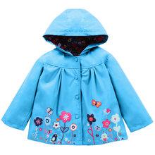 Ветровка для маленьких девочек; коллекция 2019 года; весенние куртки для девочек; плащ; детская верхняя одежда; куртка для девочек; детская оде...(China)