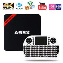 2GB RAM+16GB ROM NEXBOX A95X Smart TV Box Amlogic S905X Quad core 64 Bit Android 6.0 4Kx2K 2.4GHz WiFi Media Player Set Top Box(China (Mainland))