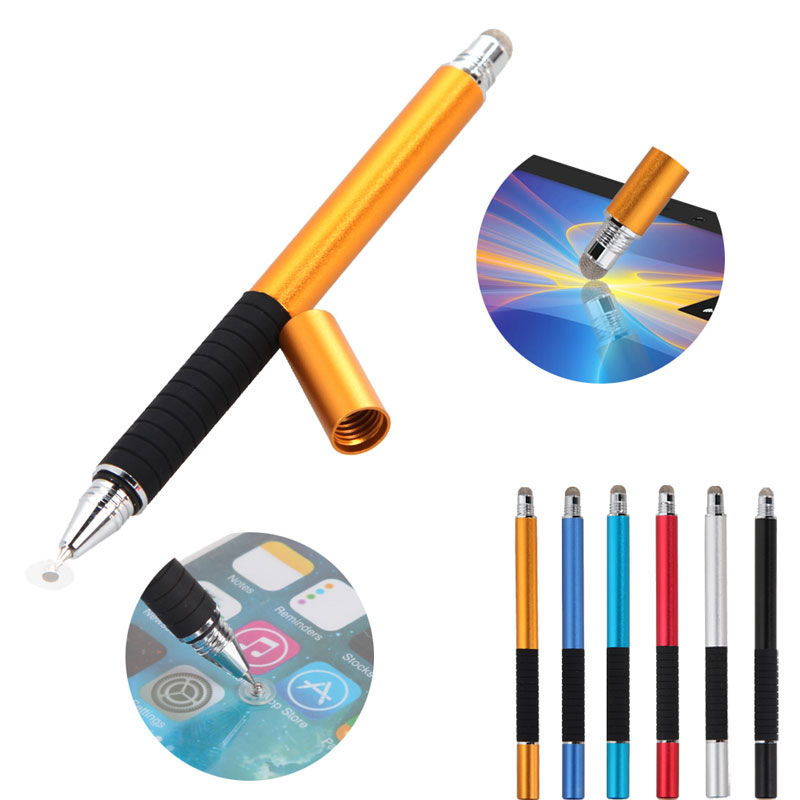 2 in 1 Multifunction Fine Point Round Thin Tip Touch Screen Pen Capacitive Stylus Pen For Smart Phone Tablet For iPad For iPhone(China (Mainland))