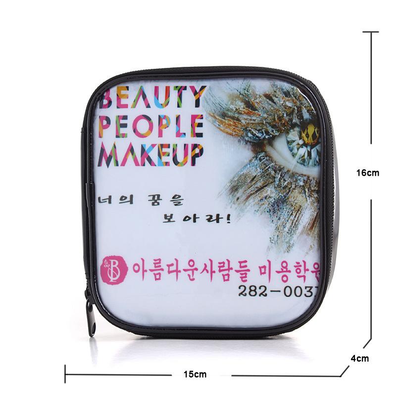 Hot sale factory professional custom authentic Korean retro makeup bag waterproof square white spot fashion bright cosmetic bag<br><br>Aliexpress