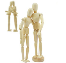 8 inch Wooden Manikin Figures Jointed Doll Model Painting Artist Drawing Sketch Mannequin(China (Mainland))