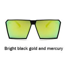 Cortina marca óculos de sol feminino quadrado vintage colorido grande caixa na moda transparente quadro óculos hipster ao ar livre melhor(China)