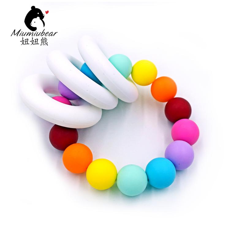 New Design Of Sets Silicone Flower Rose Beads 4pcs Geometric Stone Beads 10pcs For Baby Toys Beads Bpa Free Good Taste Beads & Jewelry Making