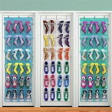 Multi-function 24 Pocket Over Door Hanging Holder Shoe Organiser Storage Rack Wall Closet Bag(China (Mainland))