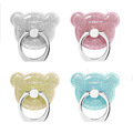 Cute bear 360 degree finger ring mobile phone smartphone stand holder for ipad iPhone 7 6s
