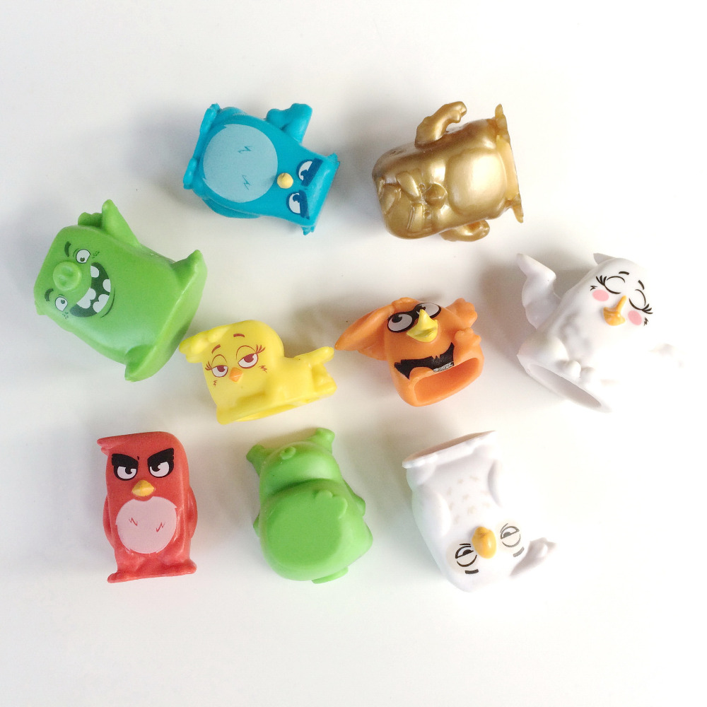 2016 new arrive 5pcs/set pig and bird 2-3.5 cm Cartoon Mini PVC Action Figures Toys Dolls Best Gift for All Children zx94(China (Mainland))