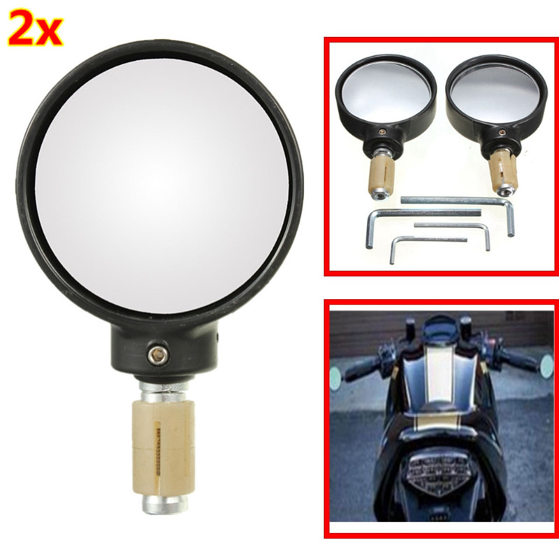 7/8 Inches for Ryde Universal Black 22MM Round Stubby Motorecycle Bike Motorbike Bar Handlebar End Mirror<br><br>Aliexpress